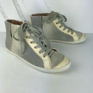 JOIE gray tan gradient ombré high top sneaker 37.5